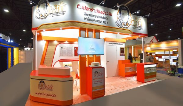 งานออกบูธ-บูธแสดงสินค้า-จ่าวิรัชฟู้ด-booth-THAIFEX-2019